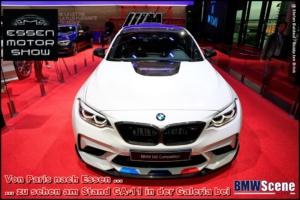 Der M2 Competition mit M Performance Parts am BMW SCENE Stand (GA-11) auf der Essen Motor Show 2018.